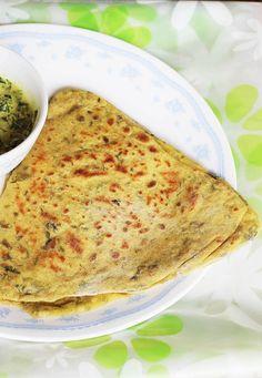 methi paratha (methi roti) , how to make methi paratha