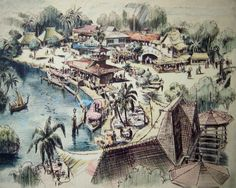 Disneyland Adventureland original concept art