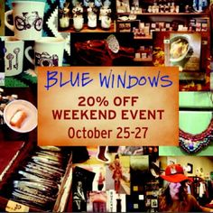 20% OFF EVENT at Blue Windows this weekend!
