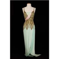"Debbie Reynolds ""Molly Brown"" pale green elaborately beaded silk gown from The Unsinkable Molly Brown. (MGM, 1964)"