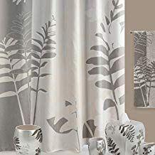 Ds Bath Olivia Grey Shower Curtain Flower Shower Curtain Plants