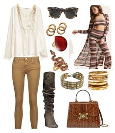 """""""Elegant Outfit"""" by hellenrose7292 on Polyvore featuring Forever 21, Lydell NYC, IRO, Stuart Weitzman, Laura Lombardi, CÉLINE, NOVICA, Ashley Pittman, Ippolita and Gucci"""