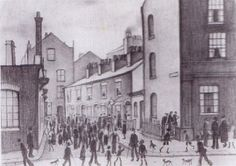 S Lowry drawing of our very own Ancoats Manchester in 1929 Manchester Art, Tate Britain, Public Display, Spencer, Salford, David Hockney, English Artists, Urban Landscape, Art Museum