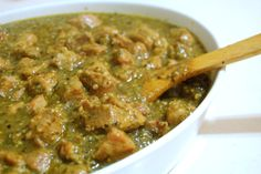 Chili Verde with pork and tomatilos that are charred..leftovers can be used for enchildadas!