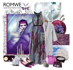 """Romwe 115."" by carola-corana ❤ liked on Polyvore featuring Nova Lighting, Barclay Butera, Cultural Intrigue, Thos. Baker, Armani Jeans, Menu, Smashbox and romwe"