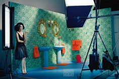 The Look: Jessica Brown Findlay by Miles Aldridge for Vogue Italia June 2012