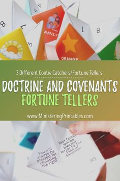 Most kids know how to fold and play with cootie catchers. But just in case they don't, I've got a full instructions page with pictures to help you out. Get this kit today for your kids! #LatterDaySaint #Primary #Primary2021 #LDSprimary #Mimnistering #MinisteringPrintables #LDSprintables Lds Seminary, Fhe Lessons, Primary Activities, Doctrine And Covenants, Lds Primary, Visiting Teaching, Church History, Lds Church, The Covenant