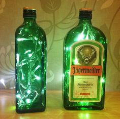 Upcycled Jagermeister Bottle Lamp