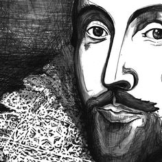 Shakespeare Portrait  The Tudor Illustration by ImmortalLongings, $19.98