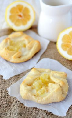 Easy Lemon Cream Danishes | TheBestDessertRecipes.com