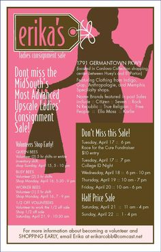 Great consignment sale!