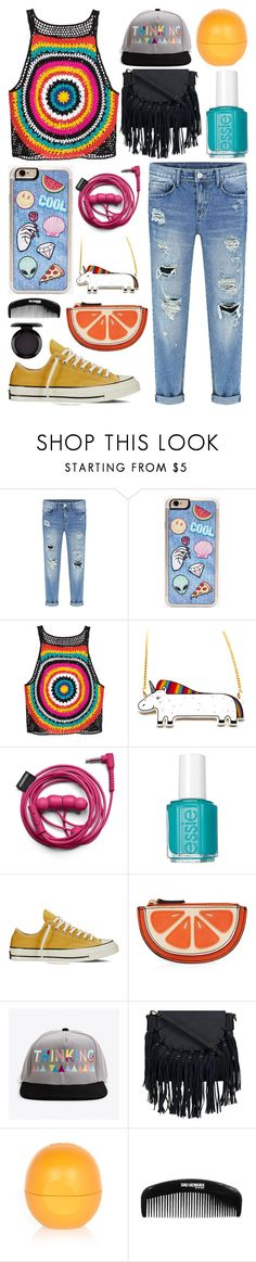 """Untitled 214"" by meaganmuffins ❤ liked on Polyvore featuring Zero Gravity, Urbanears, Essie, Converse, River Island, shu uemura and MAC Cosmetics"
