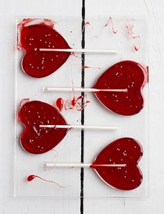Lollipops! I wonder if you could make these with like white chocolate and the dye it?