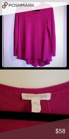 Eileen Fisher Orgsnic Linen Tunic This is a beautiful fuschia 100% organic linen tunic from Eileen Fisher. Eileen Fisher Tops Tunics