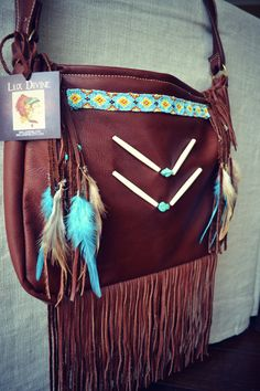 NATIVE NOMAD Weekend/Tote Boho Bag /// Brown /// Large Leather Fringe Tote Tribal Bag ///Made to Order via Etsy