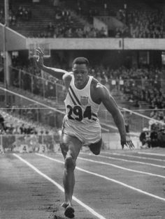 size: Premium Photographic Print: Runner Milt Campbell Competing in the Olympics by John Dominis : Artists 1956 Olympics, Olympic Runners, Running Singlet, Runners World, Decathlon, Digital Technology, Cool Posters, Life Magazine, Track And Field