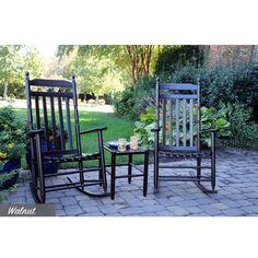 Dixie Seating Co Asheville Slatback Rocking Chair 3 Piece Set - Factory Assembled