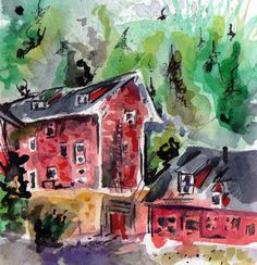 Abandoned bunk house. #draw365