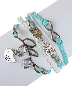 Look at this #zulilyfind! Valshi Blue Bird Braided Leather Bracelet by Valshi #zulilyfinds