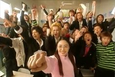 "Gokusen 1  ""I say.. feel ur breeze.. never stop walking on.. oh.."" XD  Matsu Jun, Shun Oguri, Kumai, Noda to Minami.  Jun > Yankumi > < Shinohara"