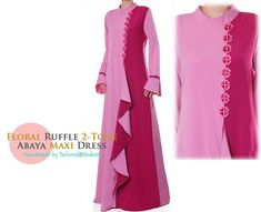 Floral Applique Ruffle Summer Abaya Long Sleeved Maxi Dress - Plus Size 2923 by on Etsy Plus Size Long Dresses, Dress Plus Size, Formal Dresses For Women, Long Sleeve Maxi, Maxi Dress With Sleeves, Best Maxi Dresses, Cheap Cocktail Dresses, Evening Dresses Plus Size, Mandarin Collar