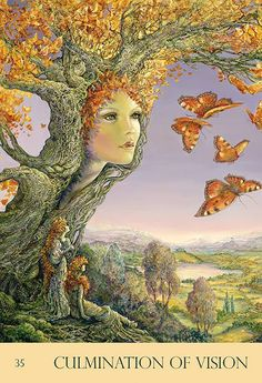"""""""Culmination of Vision"""" Oracle Cards par Josephine Wall"""