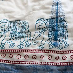 Elephants March Quilt  by Dia Living