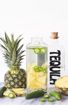 » DIY DRINKS | Pineapple & Blood Orange Spicy Jalapeño Tequila