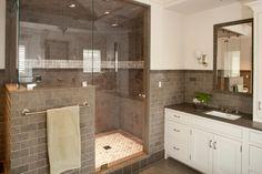Shelter Interiors LLC - bathrooms - white and gray bathroom...