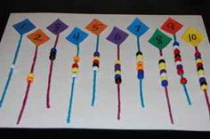 abcteach blog » Blog Archive » Springtime Math: Counting with Kites in Preschool and Kindergarten