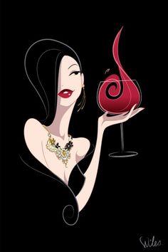 woman with a wine - Szukaj w Google