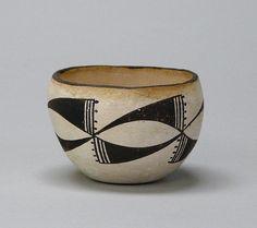 Acoma | Untitled bowl, n.d.; earthenware, slip; Gift of Frieda Bradsher