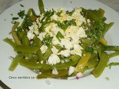 Cinco sentidos na cozinha: Salada fria de feijão verde com ovo picado