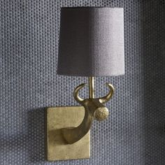 TWL78 COW WALL SCONCE - GOLD