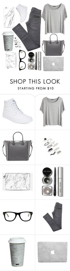 """""""Neutral Gray"""" by prettypxnkcat ❤ liked on Polyvore featuring Vans, Chicnova Fashion, Charles Jourdan, Topshop, Casetify, Bobbi Brown Cosmetics, Muse, April 77 and Fitz and Floyd"""