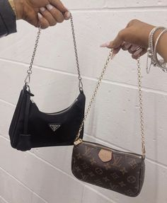 Prada and louis vuitton small handbags super aesthetic Small Handbags, Purses And Handbags, Chanel Handbags, Look Fashion, Fashion Bags, Spring Summer Fashion, Korean Fashion, Runway Fashion, High Fashion