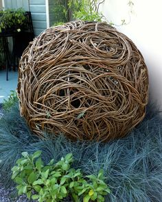 Grand Sphere, a sculpture created by artist Rachel Carter and used in her stand at the 2011 Chelsea Flower Show