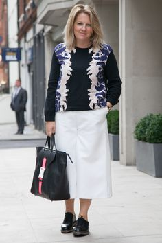 Charlotte Moore, InStyle's Editor, Wearing Mother Of Pearl - London Fashion Week SS15: See What InStyle's Wearing