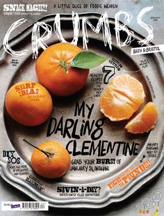 This magazine cover shows how interesting composition can make a simple object look exciting. The handwritten type works well and subtle in the whole composition. Design Visual, Web Design, Food Design, Layout Design, Editorial Layout, Editorial Design, Graphic Design Branding, Typography Design, Magazine Cover Design