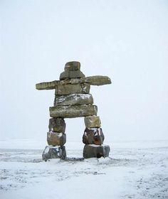 """""""A rare trapping holiday with his father. Dad – already old – seemed to grey… Arctic Landscape, Craft App, Inuit Art, Environmental Art, Stone Art, Word Art, Garden Art, Sculpture Art, Museums"""