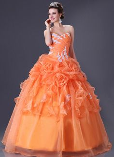 Lady Quinceanera Sweet Bridal Wedding Dress Prom Ball Gown Factory Size 6 to 16