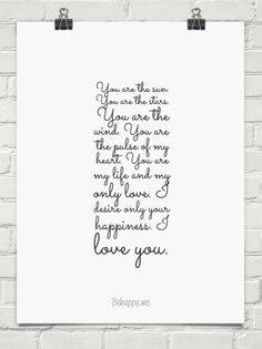 You are the sun. you are the stars. you are the wind. you are the pulse of my heart. you are my l... #55889