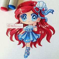 Chibi of Ariel. For those of you who have noticed, yes my username has changed. Moderators have been testing out some potential features which will be accessible in the future. #fanart