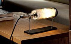 40 ideas para decorar con lámparas botella