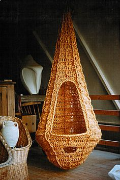 crochet chair 1970s by James Walters and Sylvia Cosh