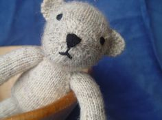Bjorn the Bear knitting pattern PDF....make this first toy they love so u can remake it if lost!?!?