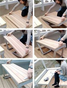 Deck Furniture Maximize the use of space with this hidden in the floor/deck furniture idea. Posting from Maximize the use of space with this hidden in the floor/deck furniture idea. Balcony Furniture, Smart Furniture, Space Saving Furniture, Shabby Chic Furniture, Furniture Ideas, Furniture Design, Cheap Furniture, Outdoor Furniture, Bedroom Furniture