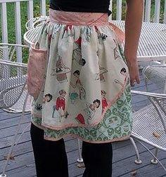 Vintage apron with homemaker's duties