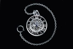 The Cartier Skeleton Pocket Watch is every bit a piece of functioning art work as it is a chronograph. Drawing inspiration from the 1930s, Cartier has taken white gold, paired it with Roman numerals, and let the limited-edition nature of the piece speak for itself.  #cartier