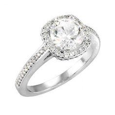 Round Diamond Engagement Setting with Cushion Halo $1926
